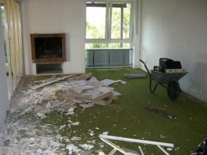 Schicker grüner Teppich